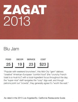 Cheery Blu Jam Blu Jam Caf Zagat Los Angeles Korean Zagat Los Angeles Mexican Zagat Review Blu Zagat Review