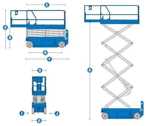 Blulift Electric Scissor lift elevated platform GS-3232 Genielift
