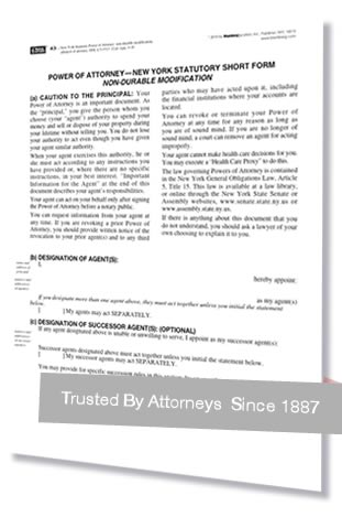 New York Power of Attorney Forms and NY Affidavit of Attorney - Free Affidavit Forms Online