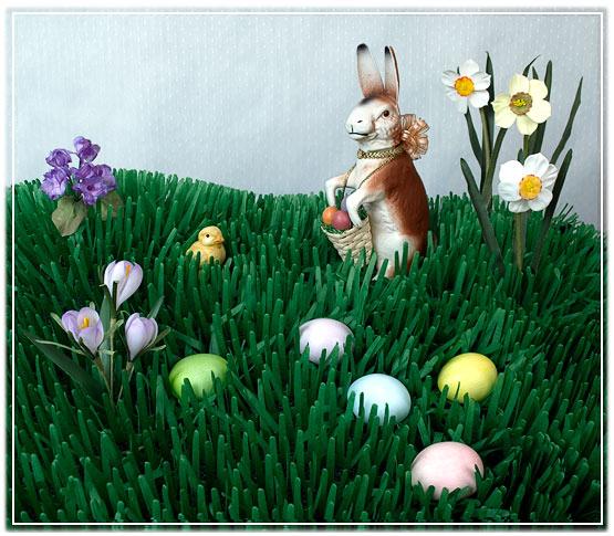 Easter Shop: Tissue Grass Mats, Easter Garland Festooning