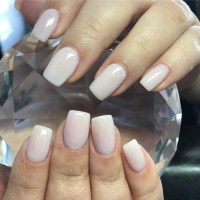 Neutral Ombre Nails - Nail Ftempo