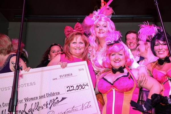 We presented Metropolitan Center for Women & Children a check for $22,000