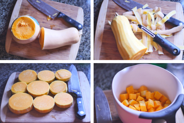 How to roast butternut squash for baby led weaning
