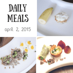 Daily Meals for April 2, 2015