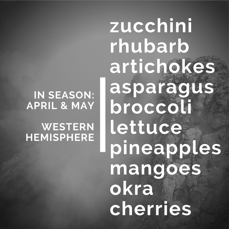 fruits and veggies in season april and may