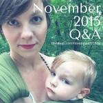 November 2015 Q&A