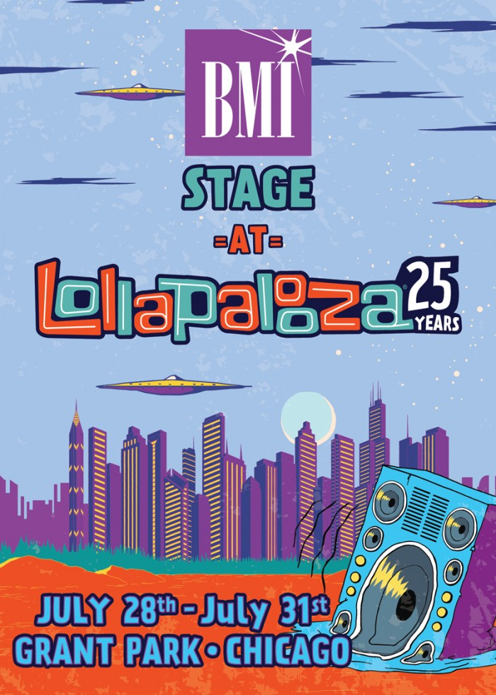 BMI @ Lollapalooza 2016 Chicago July 29, 2016 Calendar BMI