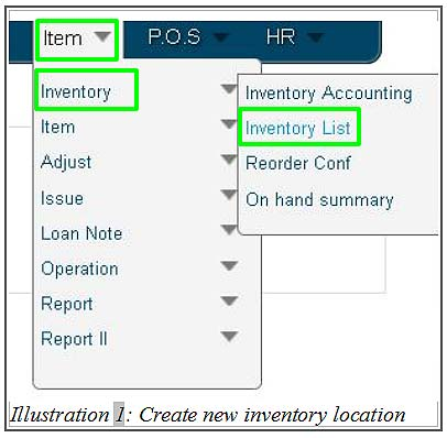 How to Create A New Inventory Location Inventory Management System
