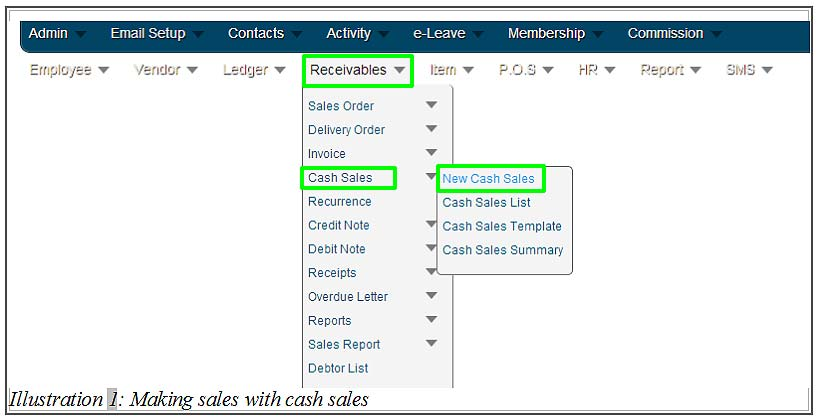 How to Make Sales with Cash Sales in BMO Online Inventory