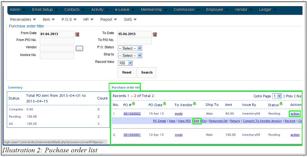 How to Edit and Delete a Purchase Order Inventory Management System