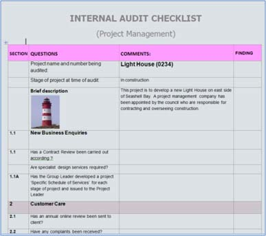 Audit Checklists A help or hindrance? BMS Services