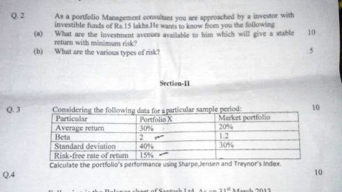 Thakur College Investment Analysis  Portfolio Management Prelims - investment analysis sample