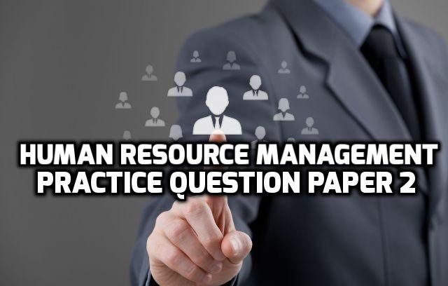 Strategic Human Resource Management Question Papers Pune University