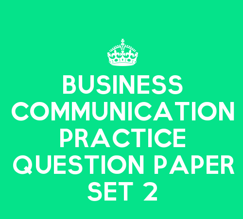 Business communication paper