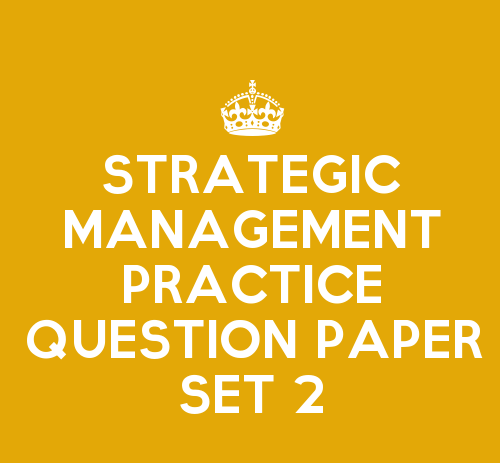 strategic planning and management question paper Importance of strategic planning and management in the business paper artim toska bus 475 march 29,  1 the question paper comprises of two sections, a and b,.