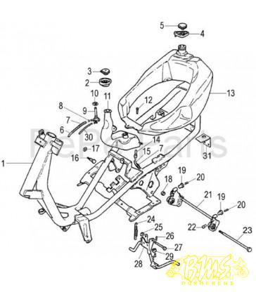 2 stroke scooter wiring diagram schematic