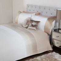 Louisa Sequin Ombre King Duvet Set - Gold | Bedding - B&M