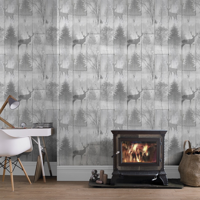 3d Brick Wallpaper Uk Highland Plank Wallpaper Neutral Wallpaper B Amp M