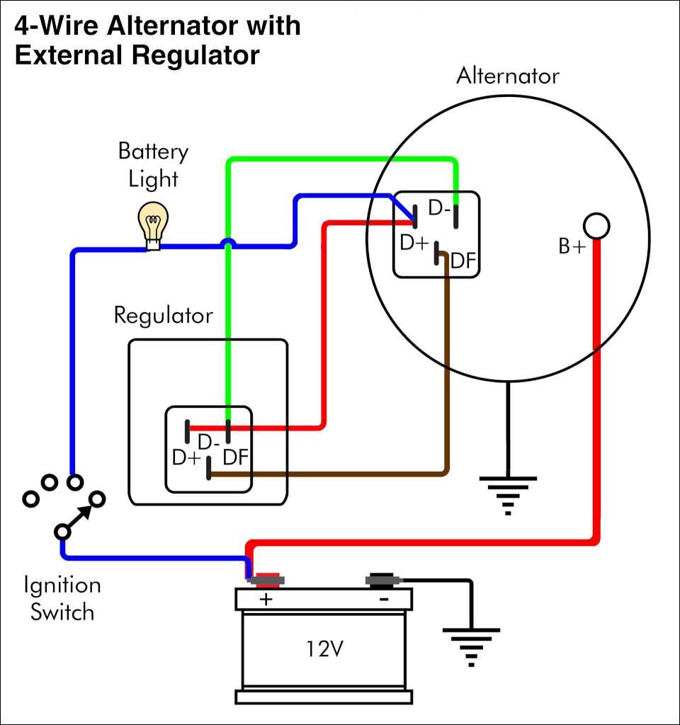 two wire delco alternator wiring diagram