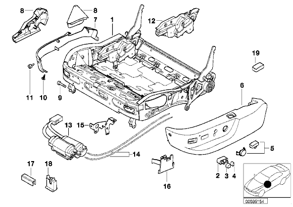 e39 seat motor diagram