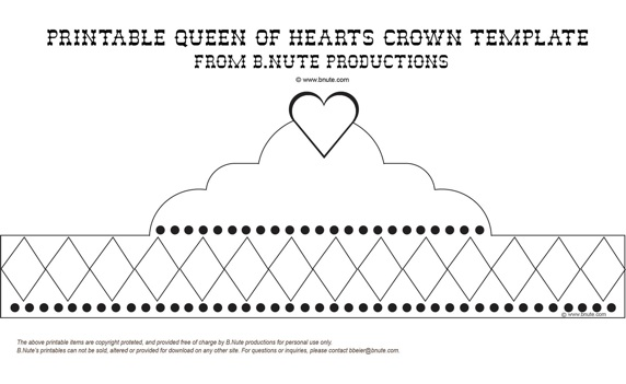 Kamiludin In Action printable princess crown template