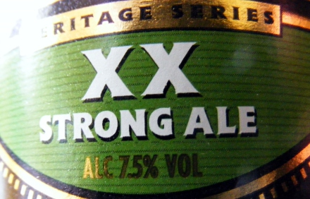 The label on a bottle of Fuller's XX Strong Ale.