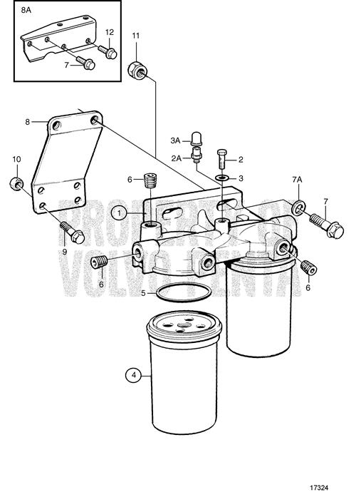 volvo penta fuel filter 41109003