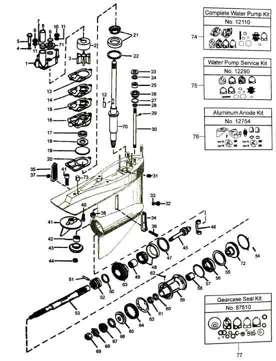 Mercruiser lower unit parts diagram