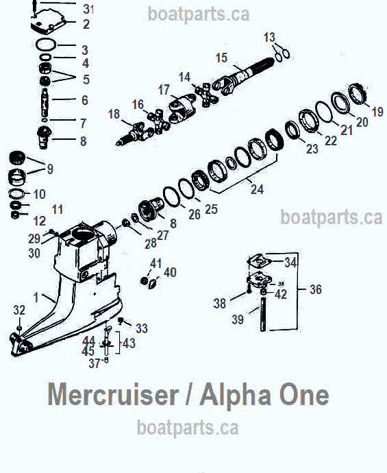 Mercruiser Alpha One Parts Drawing