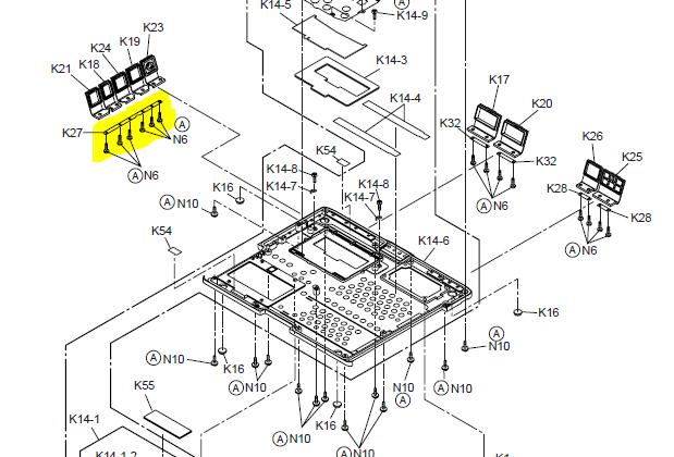 panasonic cf52 parts diagram