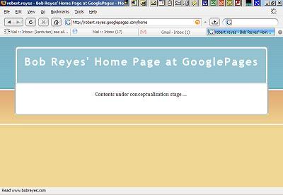 BobReyes' GooglePages