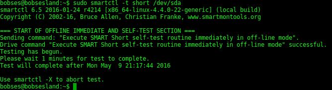smartctl-short-test