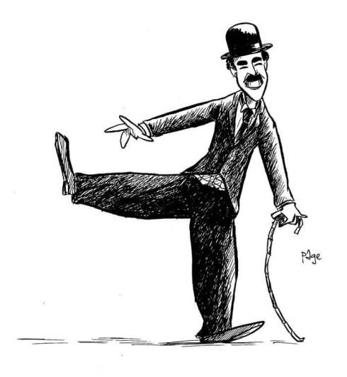 final Chaplin drawing by Frank Page