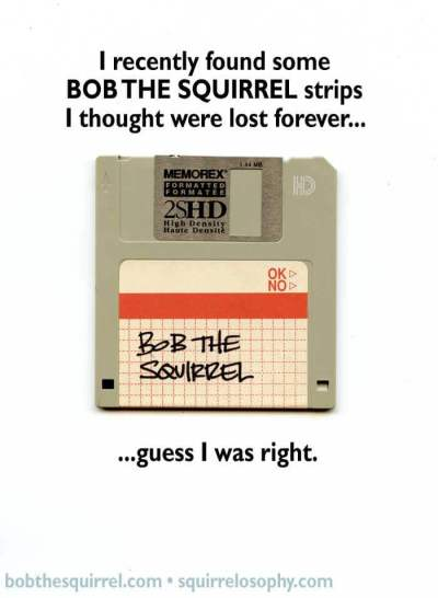 the lost Bob the Squirrel comic strips