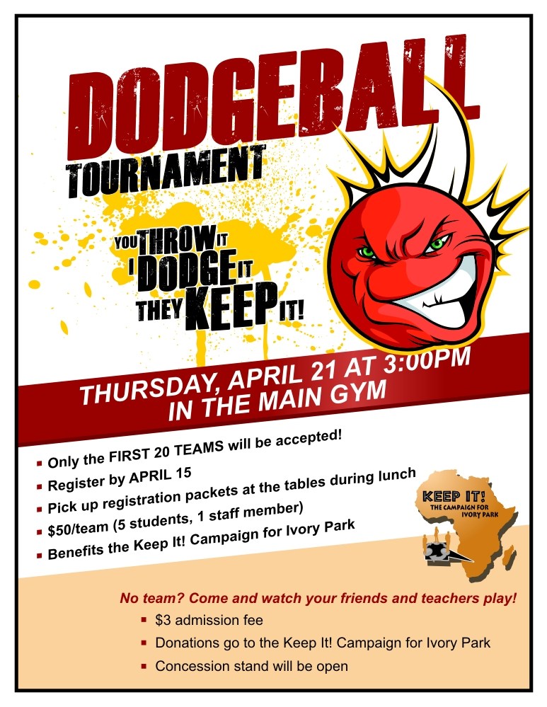 Dodgeball Tournament - Publicity Tools - competition flyer template