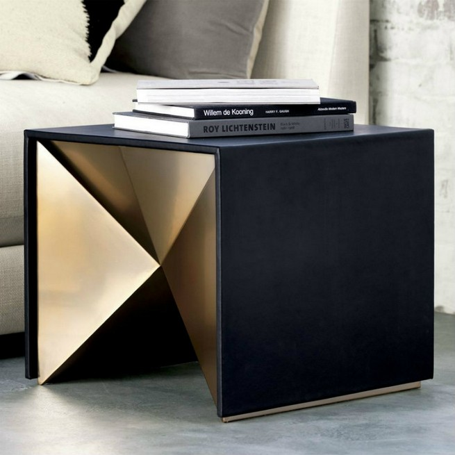 Black And Gold Side Tables For Luxury Homes