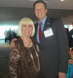 Charlotte Beasley with FAU President, John Kelly