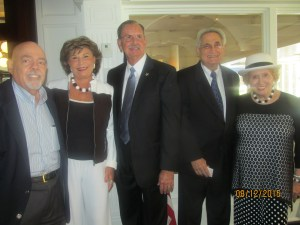 Tiger Bay Pres., Barry Epstein, Arlene Herson, Sheriff Bradshaw, Alvin Brown and Marleen Forkas