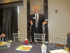 Jon Kaye introducing Rabbi New
