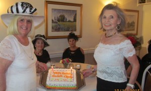 Charlotte Beasley and Marilyn Gardner celebrating joint birthday's