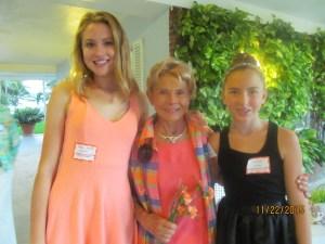 Gigi Vela with grandchildren, Meg Anne and Angie Vela