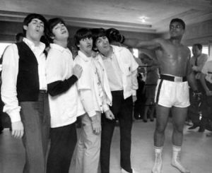 The Beatles with Muhammed Ali