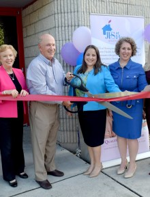(L-R) Mitch Levin, JFS at Home Board Member, Mary Lou Berger, Mayor of Palm Beach County, Ed Levine, JFS at Home Board Member, Marissa Gordon, JFS at Home Administrator, Danielle Hartman, JFS President & CEO, Judi Donoff, JFS Chair-Board of Directors, Robert S. Weinroth Boca Raton City Council Member