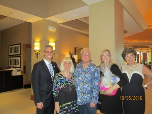 Boca Councilman Scott Singer, Charlotte Beasley, Jay DiPietro, Bonnie Kaye and Arlene Herson