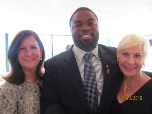 Mayor Haynie,, Cerge Sincere and Constance Scott