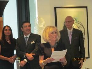 Marilyn Weinberg welcoming guests