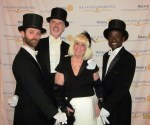 Charlotte Beasley and the male dancers of the Ball