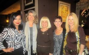Marilyn Corey, Stephene Hosey, Charlotte Beasey, Jan Savarick and Sharon DiPietro