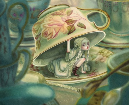 Visuel extrait d'Alice au pays des merveilles (éditions Soleil/Métamorphose)