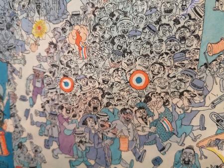 """Albert Dubout, extrait du dessin """"La Fête au village"""""""
